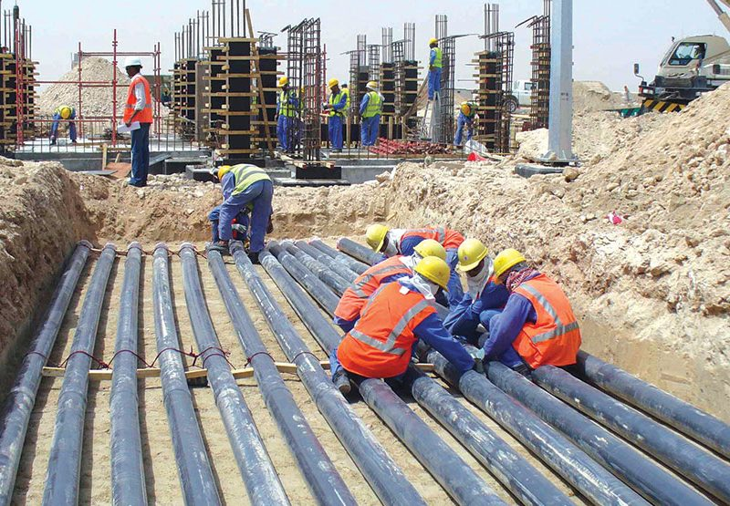 Qatar Gas 3 & 4 Onshore Project Storage Tanks Works in Ras